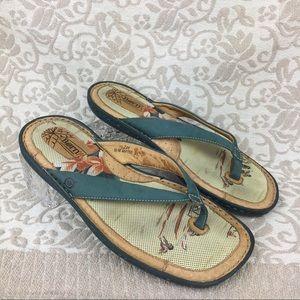 Born Hawaiian Print Flip Flop Sandals
